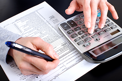 Tax services form and calculator
