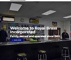 Royal Brass Inc - Website Screen Shot