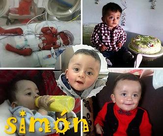 Simón, un bebé que salió de la Unidad Neonatal de la Clínica Universitria Bolivariana