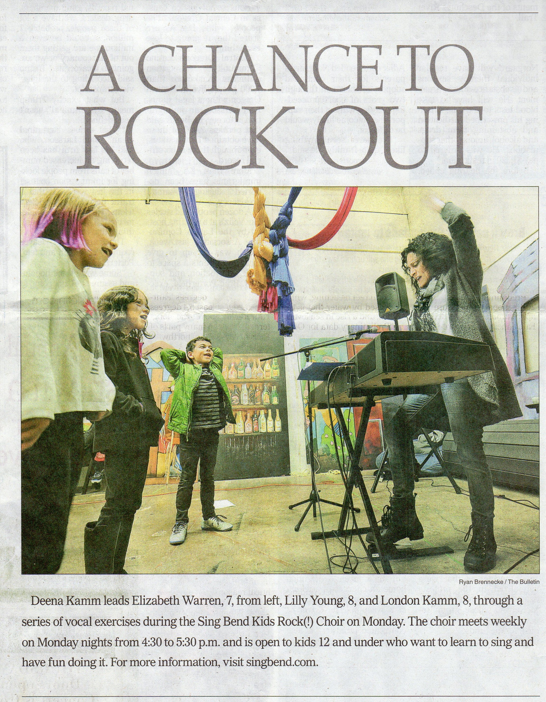 Kids ROCK in The Bulletin