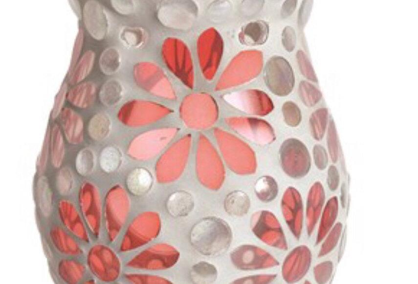 Pink Floral Tealight Burner