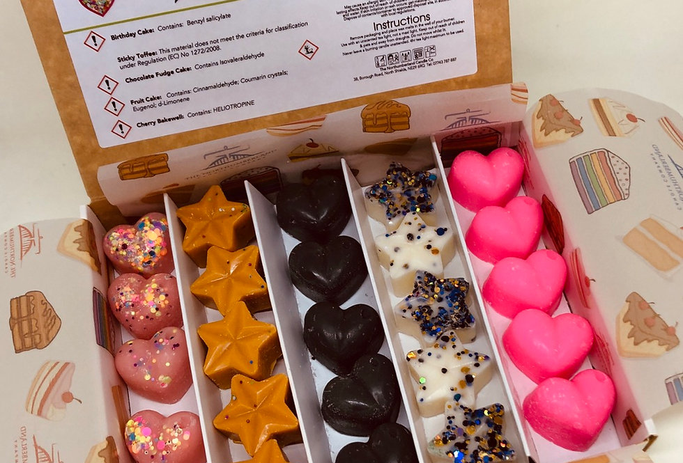 Cake Wax Melt Selection Box