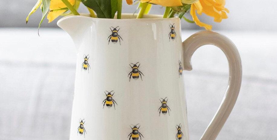 Bee Design Jug/Vase