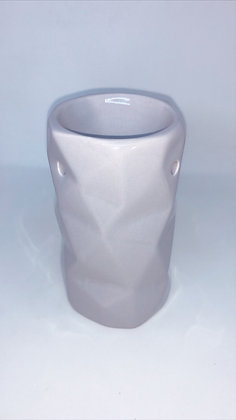 Abstract Light Grey Tea Light Burner