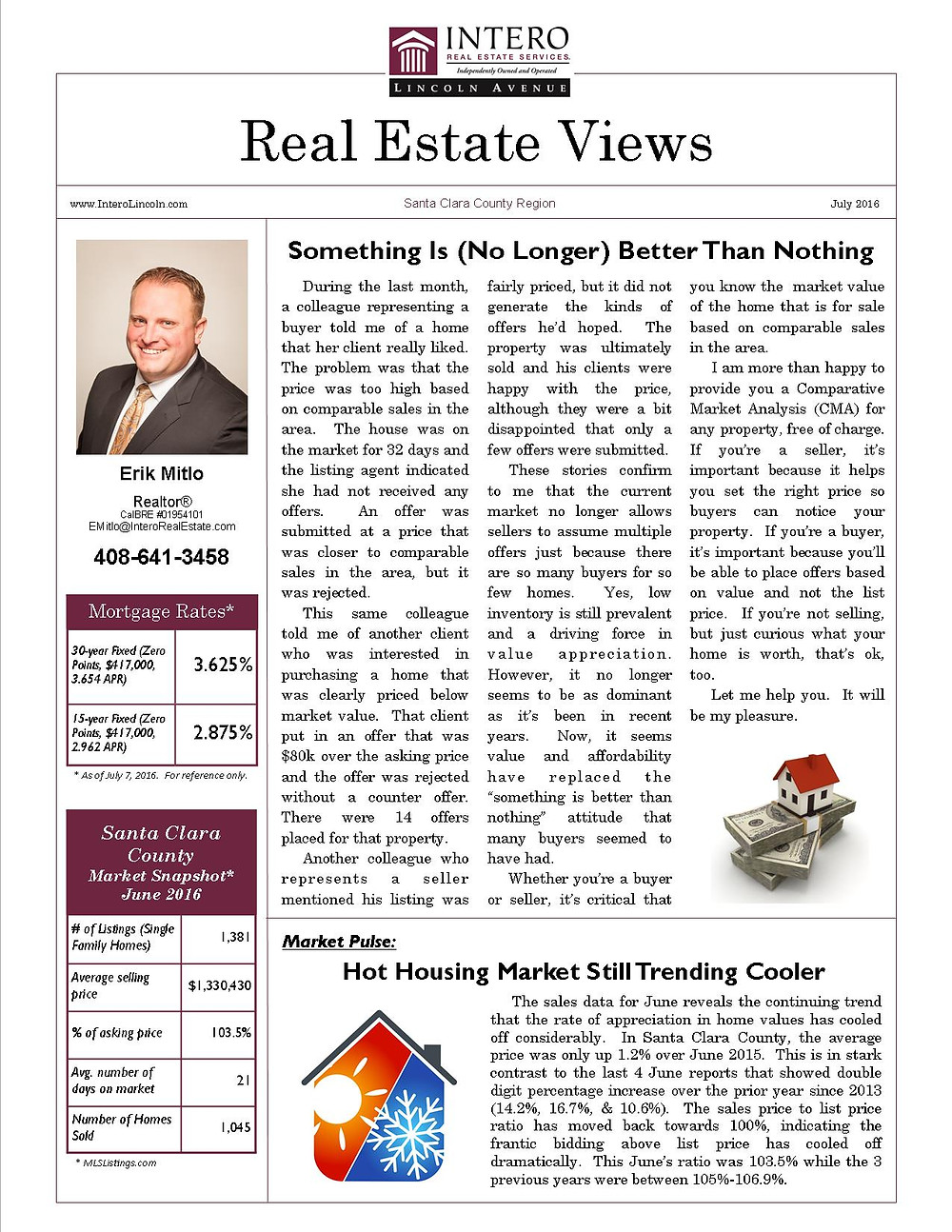 """During the last month, a colleague representing a buyer told me of a home that her client really liked. The problem was that the price was too high based on comparable sales in the area. The house was on the market for 32 days and the listing agent indicated she had not received any offers. An offer was submitted at a price that was closer to comparable sales in the area, but it was rejected.  This same colleague told me of another client who was interested in purchasing a home that was clearly priced below market value. That client put in an offer that was $80k over the asking price and the offer was rejected without a counter offer. There were 14 offers placed for that property.  Another colleague who represents a seller mentioned his listing was fairly priced, but it did not generate the kinds of offers he'd hoped. The property was ultimately sold and his clients were happy with the price, although they were a bit disappointed that only a few offers were submitted.  These stories confirm to me that the current market no longer allows sellers to assume multiple offers just because there are so many buyers for so few homes. Yes, low inventory is still prevalent and a driving force in value appreciation. However, it no longer seems to be as dominant as it's been in recent years. Now, it seems value and affordability have replaced the """"something is better than nothing"""" attitude that many buyers seemed to have had.  Whether you're a buyer or seller, it's critical that you know the market value of the home that is for sale based on comparable sales in the area.  I am more than happy to provide you a Comparative Market Analysis (CMA) for any property, free of charge. If you're a seller, it's important because it helps you set the right price so buyers can notice your property. If you're a buyer, it's important because you'll be able to place offers based on value and not the list price. If you're not selling, but just curious what your home is worth, that's ok, too.  Le"""