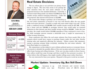 How New Tax Plan Can Affect Real Estate Decisions and MARKET UPDATE..