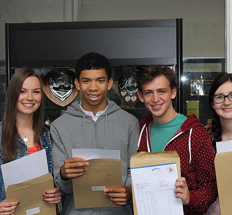 Ecstatic students have collected their A Level results from Wetherby High School