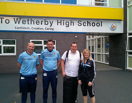 A former Wetherby High School student is making her way in the world of football coaching