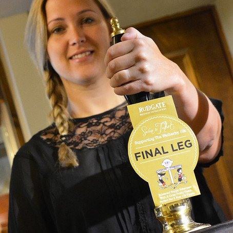 The Swan & Talbot supports runners on the 'Final Leg' with special ale launch