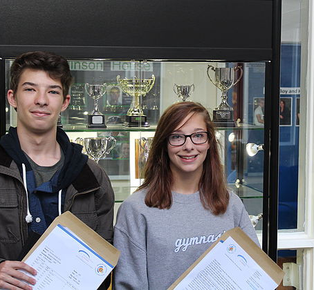 Wetherby High School students collect a set of strong GCSEs.