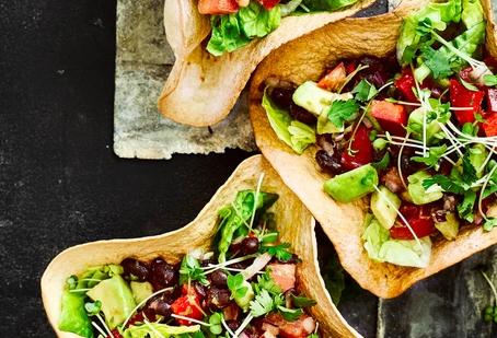 Mexican salad tortilla bowls