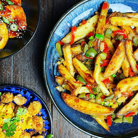 Friday night fakeaway salt and pepper chips