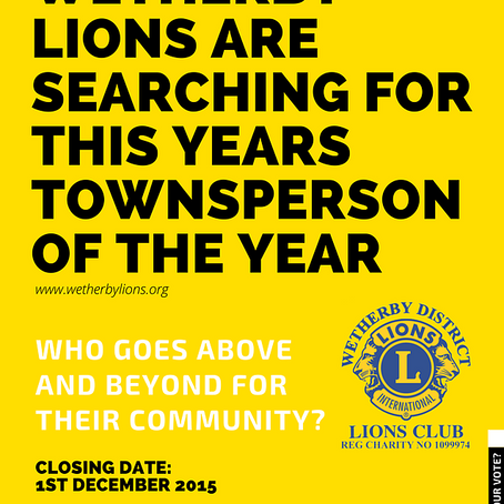 The search is on for this year's Townsperson of the Year
