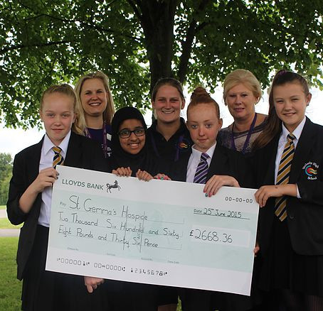 Wetherby High students raise over £2,600 in aid of St Gemma's Hospice