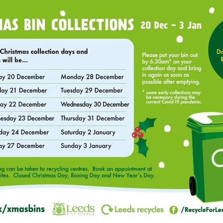 Christmas Bin Collections