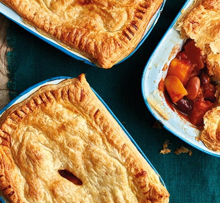 Chilli bean and squash pot pies