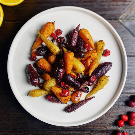 Cranberry and Orange Christmas Carrots