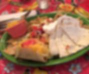 Nachos, quesadilla, and Hard Shell Beef Taco