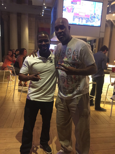 """Kevin Hanging out with NBA Hall of Famer Gary """"The Glove"""" Payton"""