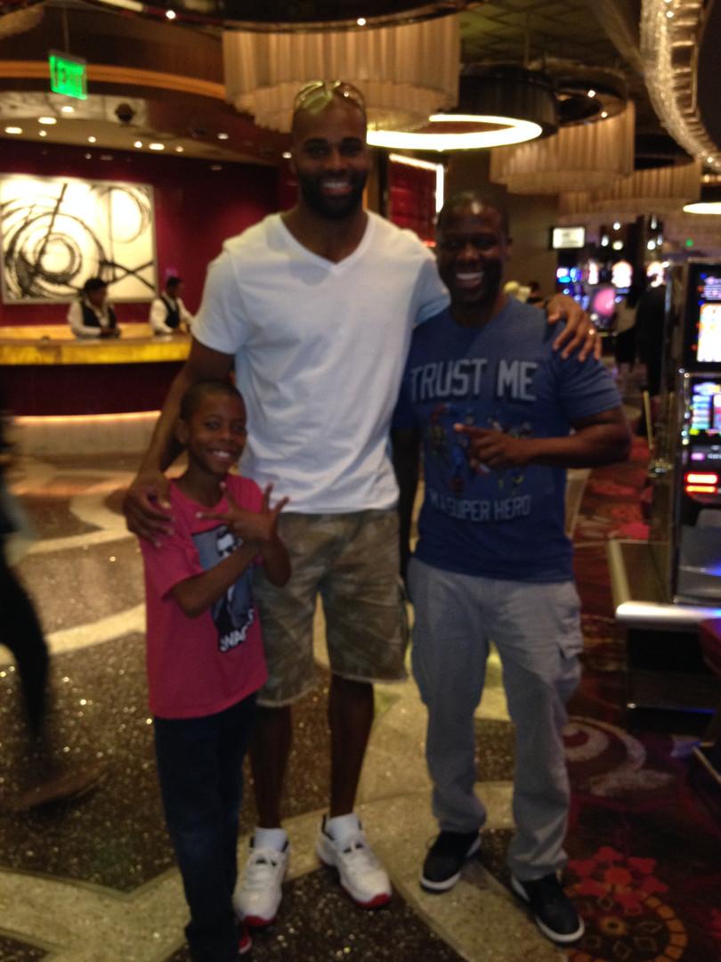 Kevin & KJ with Former NFL star Michael Jenkins