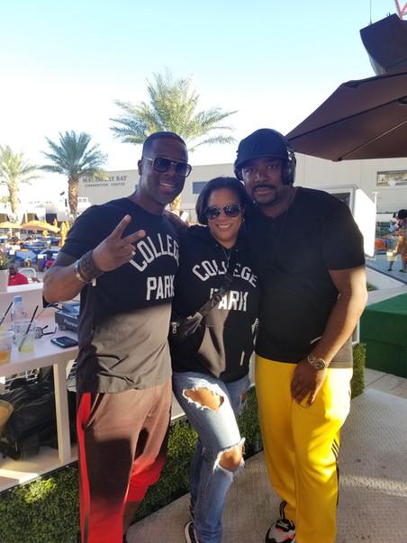 "Kevin & Tasha Robinson-White with ""DJ J-Nice"""