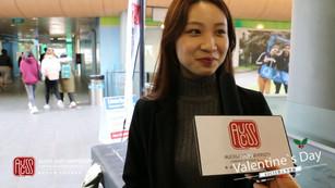 Chinese Valentine's Day street visit