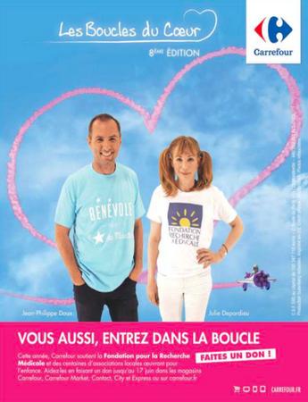 Publicité Carrefour Boucles du coeur 2018