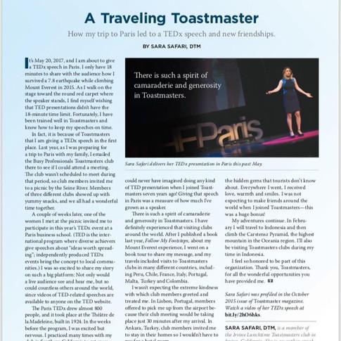toastmasters Magazine