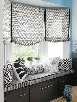 black and white bay window seat