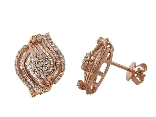 Aurora Rose Gold Diamond Earrings