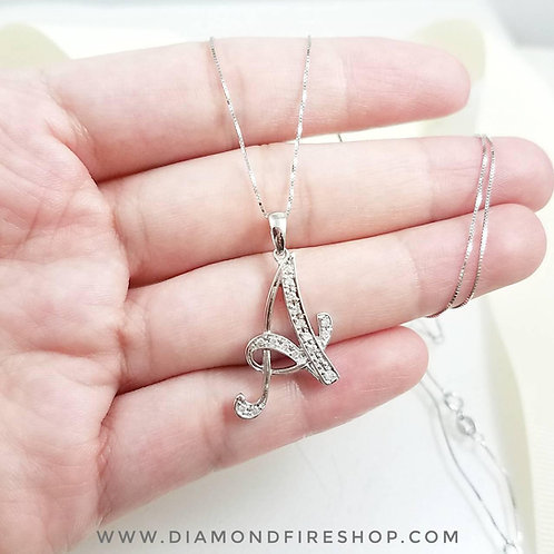 Diamond Initial Necklace (A)