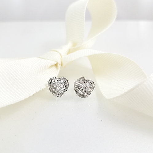 Meghan Heart Diamond Earrings