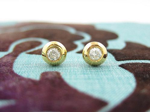 Donut Diamond Earrings