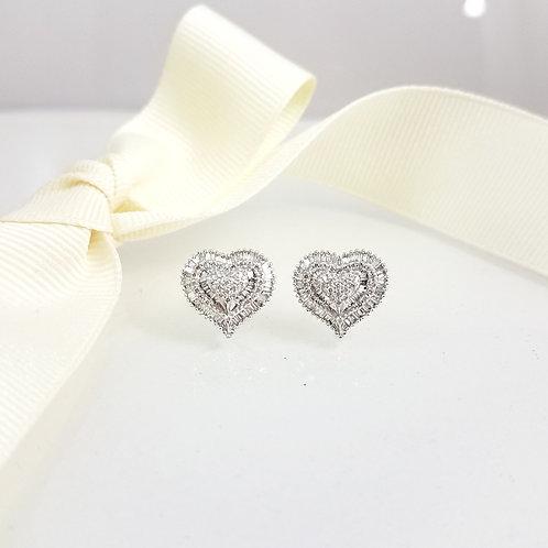 Anne Heart Diamond Earrings