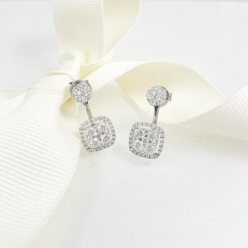 Matilde Drop Illusion Diamond Earrings