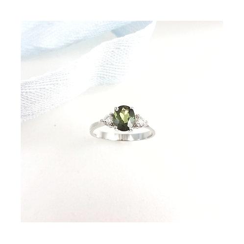 Chrome Tourmaline & Diamond