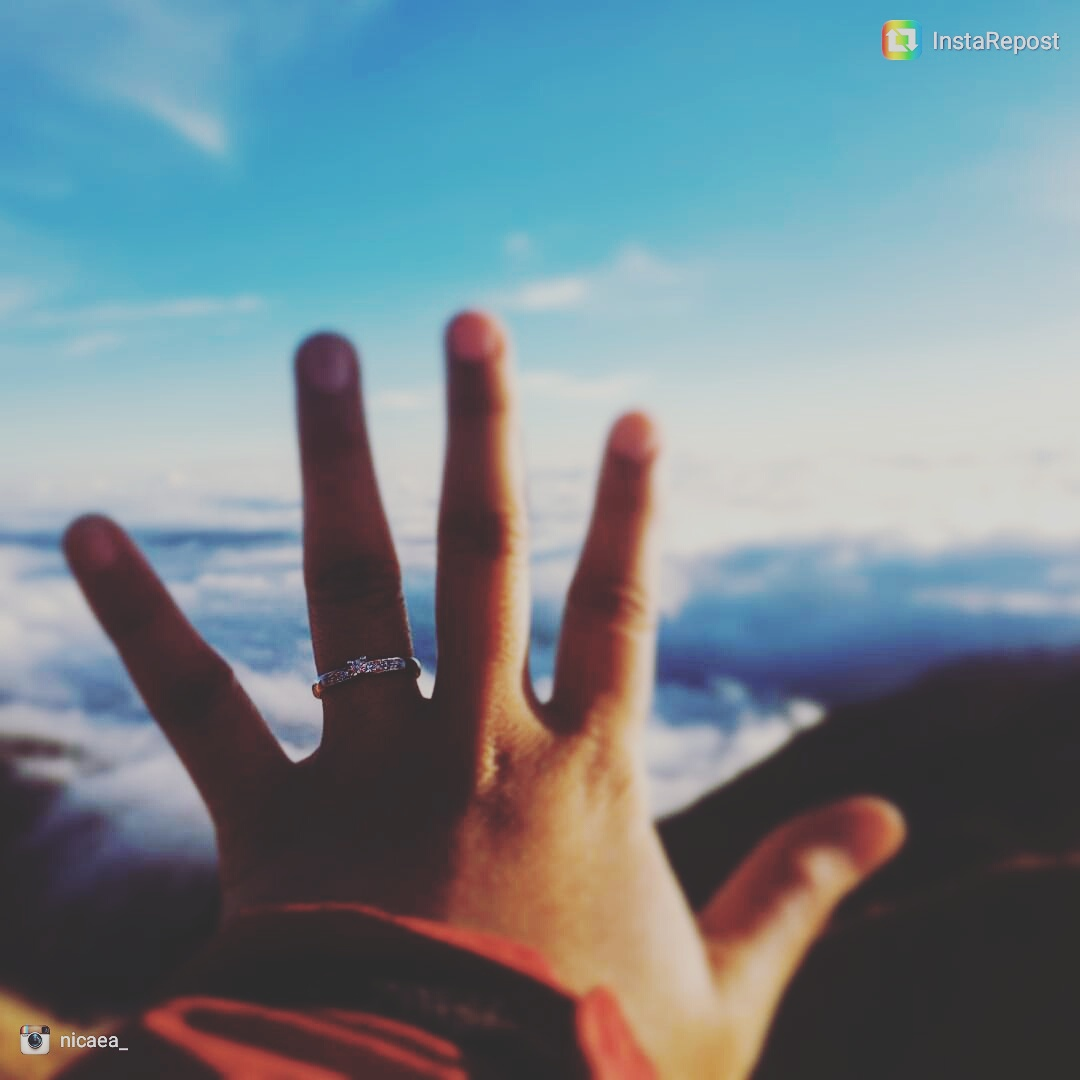 16.02.15 Nicaea engagement ring in Mt Pulag