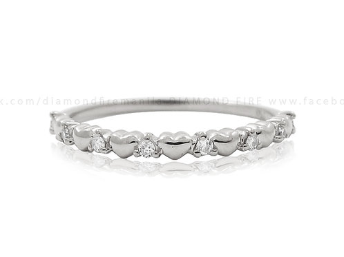 Sweet Hearts White Gold