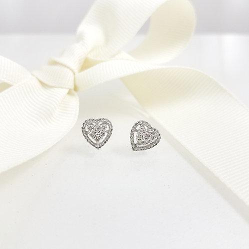 Charlene Heart Diamond Earrings