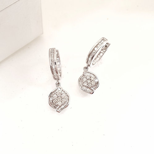Louisa Drop Diamond Earrings