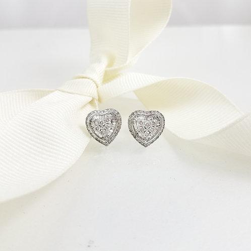 Sofia Heart Diamond Earrings