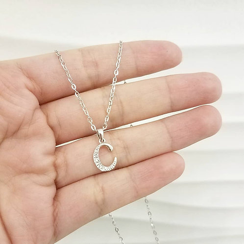 Diamond Initial Necklace (C)