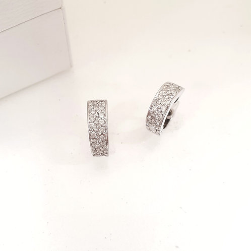 Double Line Clip Diamond Earrings