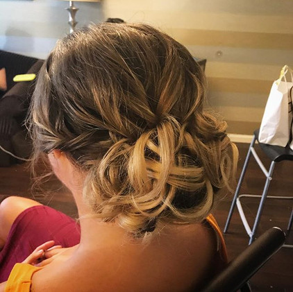 #updo #bridalhair #bridesmaid #curls #hair #firemonkeyhairdesign #weddinghair #wedding