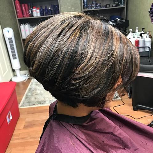#hair #haircut #shorthair #highlights #darkhair #haircolor #bob #boblife