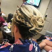 Who says short hair can't go up_! #bridesmaid #bridesmaidhair #shorthair #updo #formalhair #braid #firemonkeyhairdesign #hair #wedding #wedd