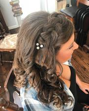 #updo #formalhair #wedding #weddinghair #curls #longhair #bridesmaid #bridesmaidhair #Hair #braid #firemonkeyhairdesign