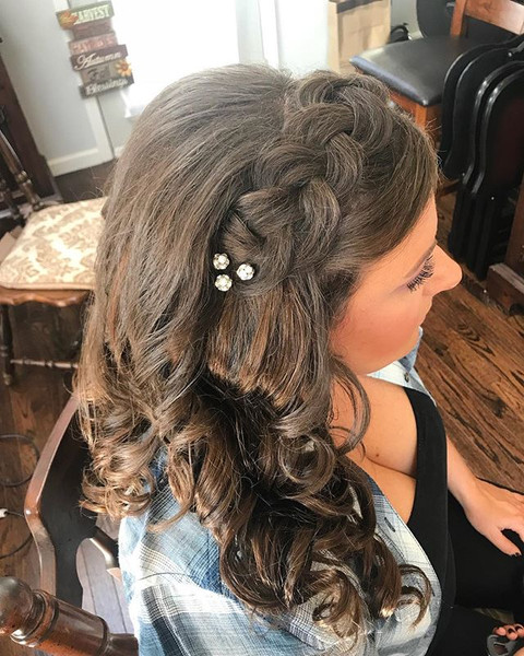 #updo #formalhair #wedding #weddinghair #curls #longhair #bridesmaid #bridesmaidhair #Hair #braid #firemonkeyhairdesign
