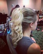 Another great day working with _firemonkeyhairdesign #ponytail #weddinghair #wedding #formalhair #firemonkeyhairdesign #blonde #bridesmaid #