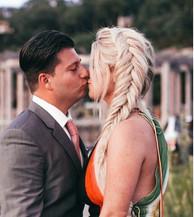Engagement party hair 😍 #bridalhair #updo #braid #fishtail #bride #bridetobe #formalhair #hair #blondehair #engagementhair #danfords #messyh